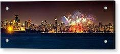 Vancouver Celebration Of Light Fireworks 2013 - Day 2 Acrylic Print by Alexis Birkill