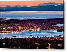 Vancouver From Above Crop Acrylic Print by Alexis Birkill