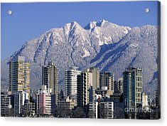 Vancouver Skyline West End Acrylic Print by Kevin Miller