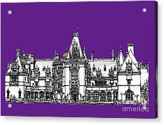 Vanderbilt's Biltmore In Purple Acrylic Print by Adendorff Design