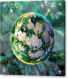 Vangloghing Roses Acrylic Print by Robin Moline