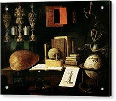 Vanitas Still Life, 1641 Oil On Canvas Acrylic Print by Sebastian Stoskopff