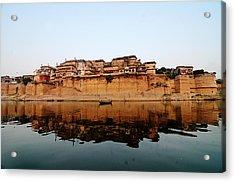 Varanasi Ramnagar Fort Acrylic Print by Money Sharma