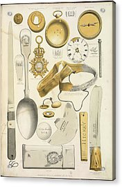 Various Recovered Relics Acrylic Print by British Library