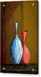 Vases Acrylic Print by Vandana Rajesh