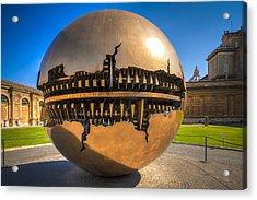Vatican Garden Sphere Acrylic Print by Erik Brede