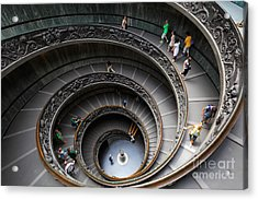 Vatican Spiral Staircase Acrylic Print by Inge Johnsson