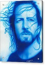 Eddie Vedder - ' Vedder ' Acrylic Print by Christian Chapman Art