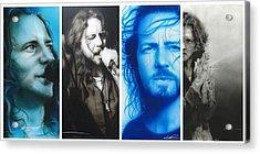 Eddie Vedder - ' Vedder Mosaic I ' Acrylic Print by Christian Chapman Art
