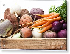 Veg Box Acrylic Print by Anne Gilbert