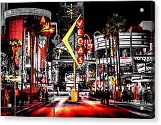 Vegas Nights Acrylic Print by Az Jackson