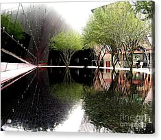 Vegas Reflections Acrylic Print by Tom Riggs