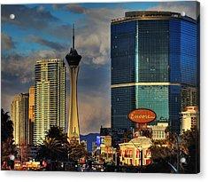 Vegas Strip 001 Acrylic Print by Lance Vaughn