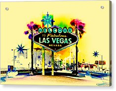 Vegas Weekends Acrylic Print by Az Jackson