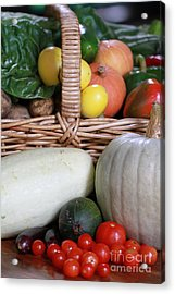 Vegetable Basket Acrylic Print by Kelly Jones