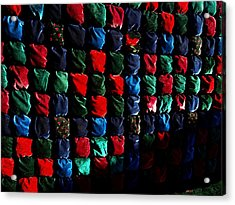Velvet Biscuit Quilt Acrylic Print by Kathleen Palermo