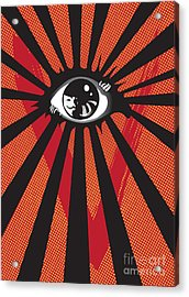 Vendetta2 Eyeball Acrylic Print by Sassan Filsoof
