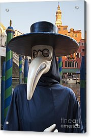 Venetian Face Mask G Acrylic Print by Heiko Koehrer-Wagner