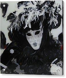 Venetian Mask Acrylic Print by Betta Artusi