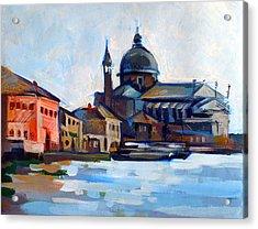 Venetian Shoreline Acrylic Print by Filip Mihail