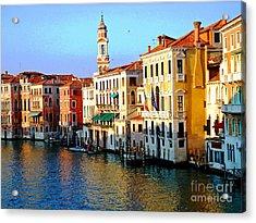 Venezia Grand Canal Acrylic Print by Phillip Allen