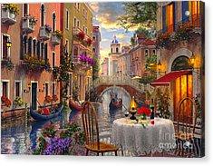 Venice Al Fresco Acrylic Print by Dominic Davison