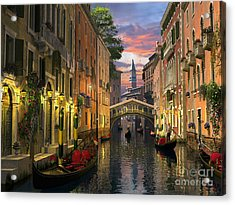 Venice At Dusk Acrylic Print by Dominic Davison