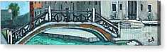 Venice Bridge Acrylic Print by Rita Brown