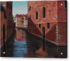Venice Canal Acrylic Print by Darice Machel McGuire