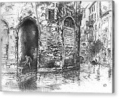 Venice Doorways 1880 Acrylic Print by Padre Art