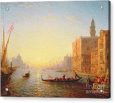 Venice Evening Acrylic Print by Felix Ziem