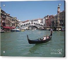 Venice Gondolier Acrylic Print by John Malone
