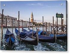 Venice Grand Canal And Goldolas Acrylic Print by Melanie Viola