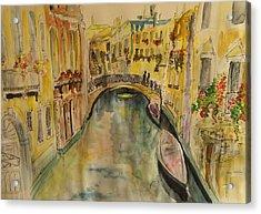 Venice I. Acrylic Print by Paula Steffensen
