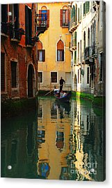 Venice Reflections Acrylic Print by Bob Christopher