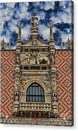 Venice - The Lion Of Saint Mark Acrylic Print by Lee Dos Santos