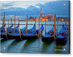 Venice View To San Giorgio Maggiore Acrylic Print by Heiko Koehrer-Wagner
