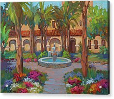 Ventura Mission Acrylic Print by Diane McClary