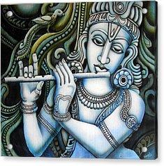 Venugopala Acrylic Print by Vishwajyoti Mohrhoff