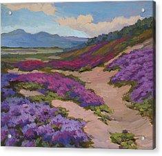 Verbena Harmony In Purple Acrylic Print by Diane McClary
