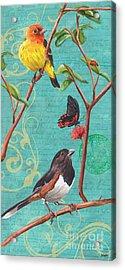 Verdigris Songbirds 2 Acrylic Print by Debbie DeWitt