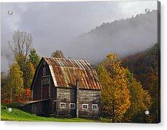 Vermont Autumn Barn Acrylic Print by Joseph Rossbach