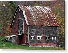 Vermont Barn Art Acrylic Print by Juergen Roth