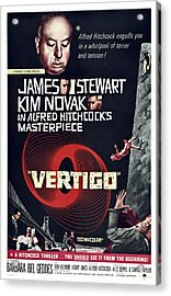 Vertigo, Us Poster Art, From Top Alfred Acrylic Print by Everett
