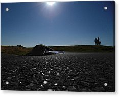 Very Hard Tarmac - Boeing 787 Acrylic Print by Marcello Cicchini
