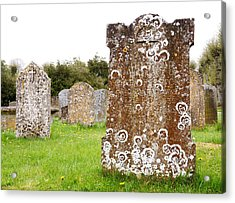 Very Old Headstone Acrylic Print by Jim Hughes