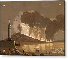 Vesuvius Erupting, June 1794 Acrylic Print by British Library