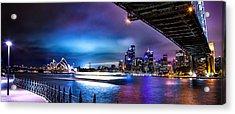 Vibrant Sydney Harbour Acrylic Print by Az Jackson