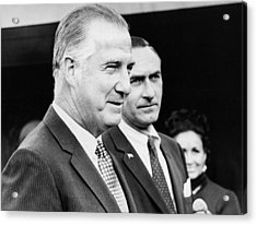Vice President Spiro Agnew Acrylic Print by Underwood Archives