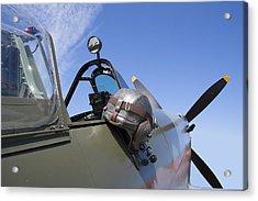 Vickers Spitfire Acrylic Print by Daniel Hagerman
